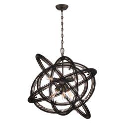 Eurofase Orbita Collection, 6-Light Bronze Chandelier