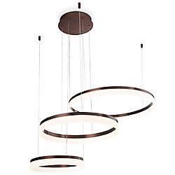 Collection Minuta, lustre à trois niveaux bronze à DEL