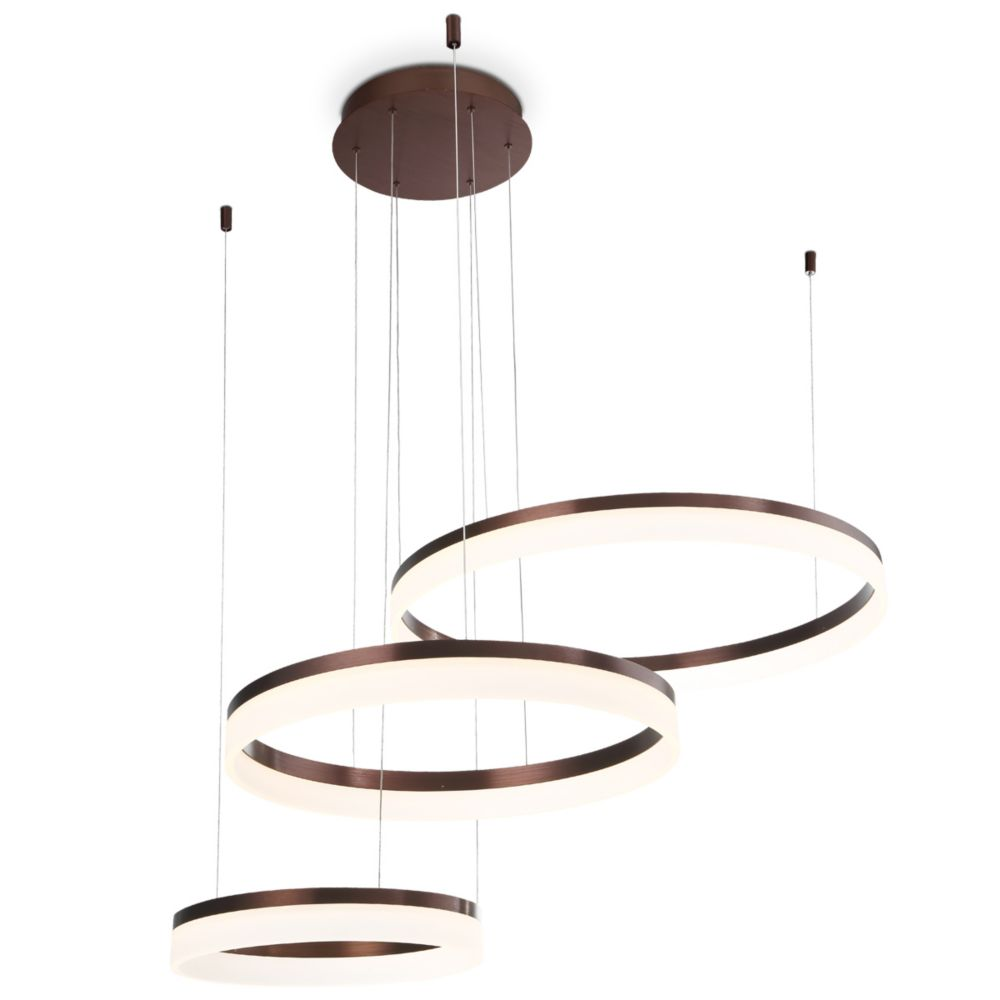 Eurofase Minuta Collection, Three-Tier LED Bronze Chandelier
