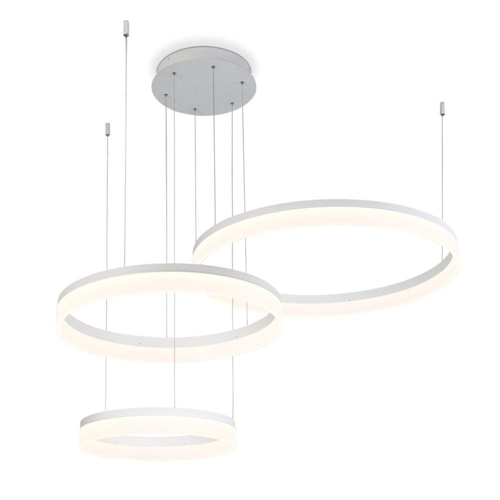 Eurofase Minuta Collection, Three-Tier LED White Chandelier