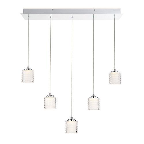 Ancona Collection, 5-Light LED Chrome Chandelier