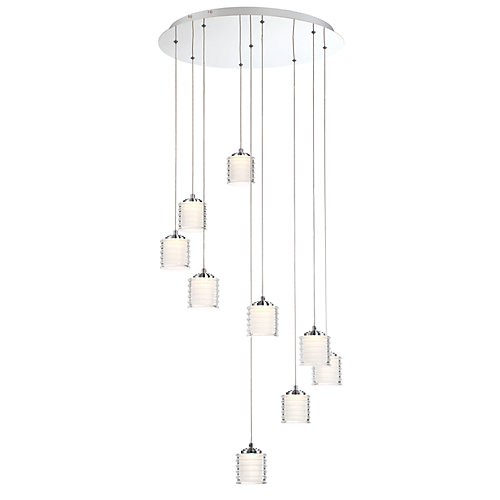Ancona Collection, 9-Light LED Chrome Chandelier