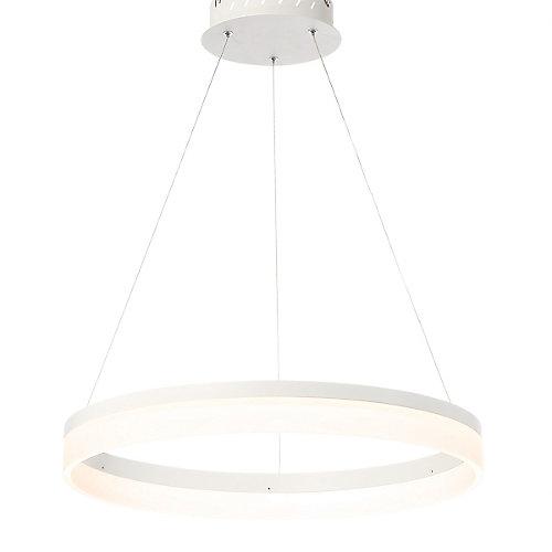 Minuta Collection, Medium LED White Chandelier