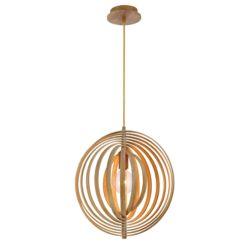 Eurofase Abruzzo Collection, 1-Light Small Wood Pendant