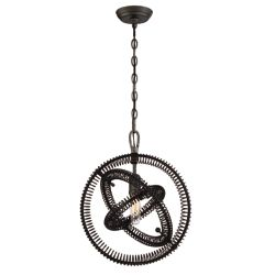 Eurofase Orbita Collection, 1-Light Bronze Pendant