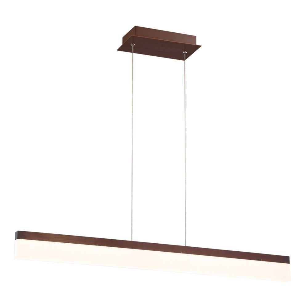 Eurofase Tunnel Collection, Small Linear LED Bronze Pendant