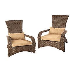 Patioflare Premium Wicker Muskoka Chair - (Set of 2)