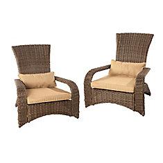 Premium Wicker Muskoka Chair - (Set of 2)