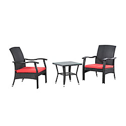 Patioflare Whylie 3-Piece Patio Conversation Set