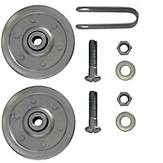 3 inch Garage Door Pulleys with fork and bolts (2 Pack)