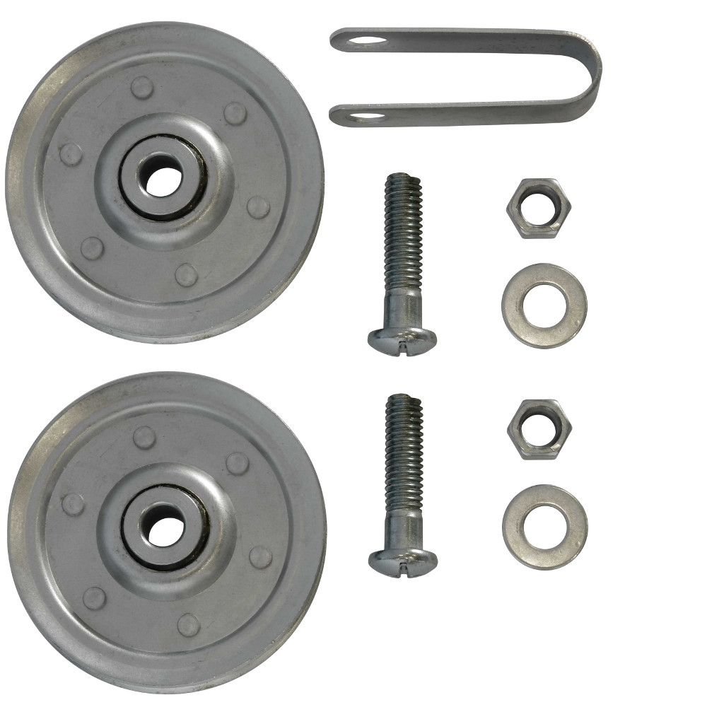 Ideal Security 3 inch Garage Door Pulleys with fork and bolts (2 Pack)