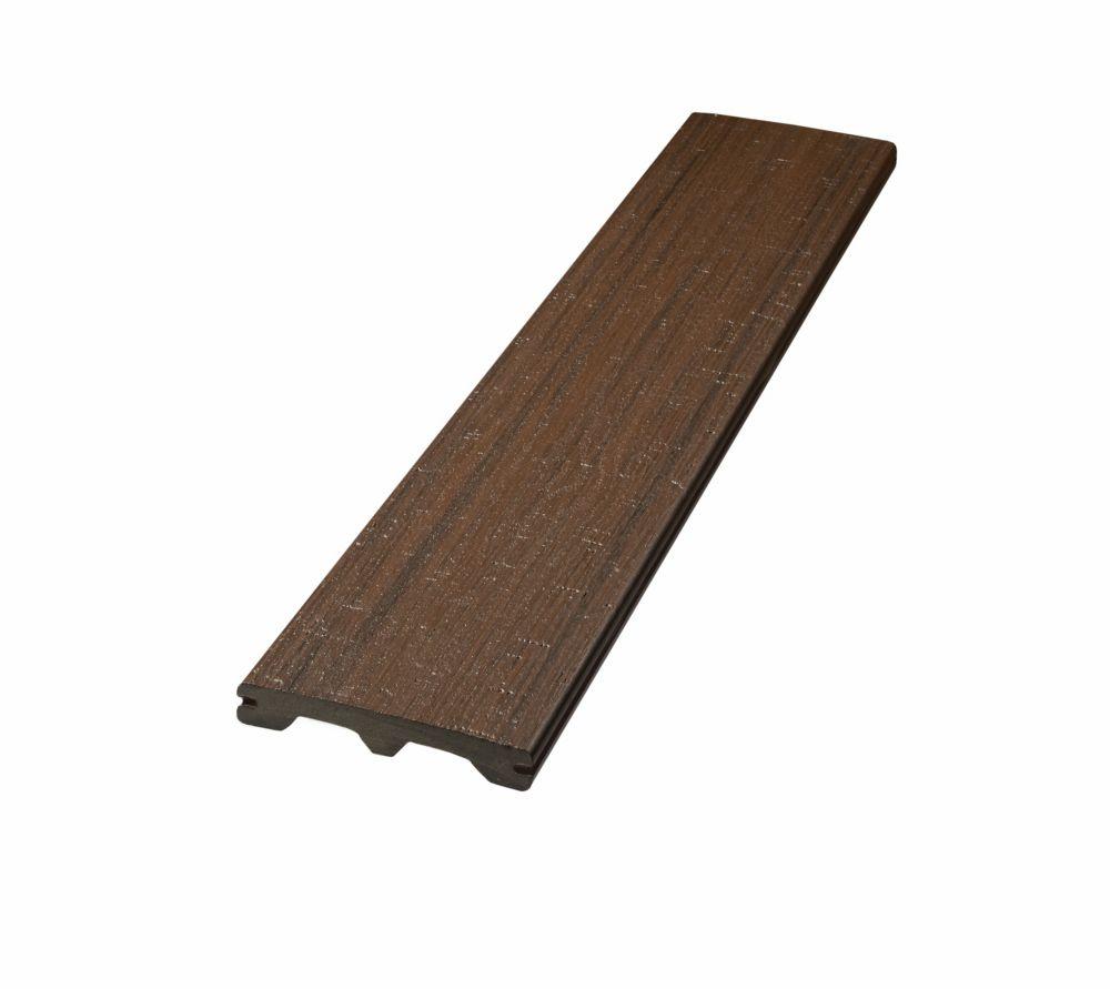 Veranda 12 ft. - Vintage Composite Capped Grooved Decking -  Harvest Brown