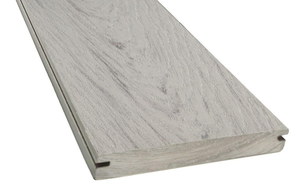 Veranda 16 ft. -  Ultra Light Composite Capped Grooved Decking - Flagstone Grey