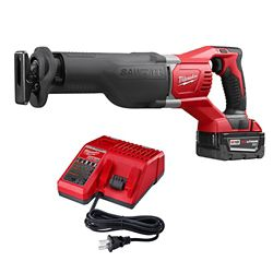 Milwaukee Tool M18 18V Li-Ion Cordless SAWZALL Reciprocating Saw w/ 5.0Ah Battery & Charger