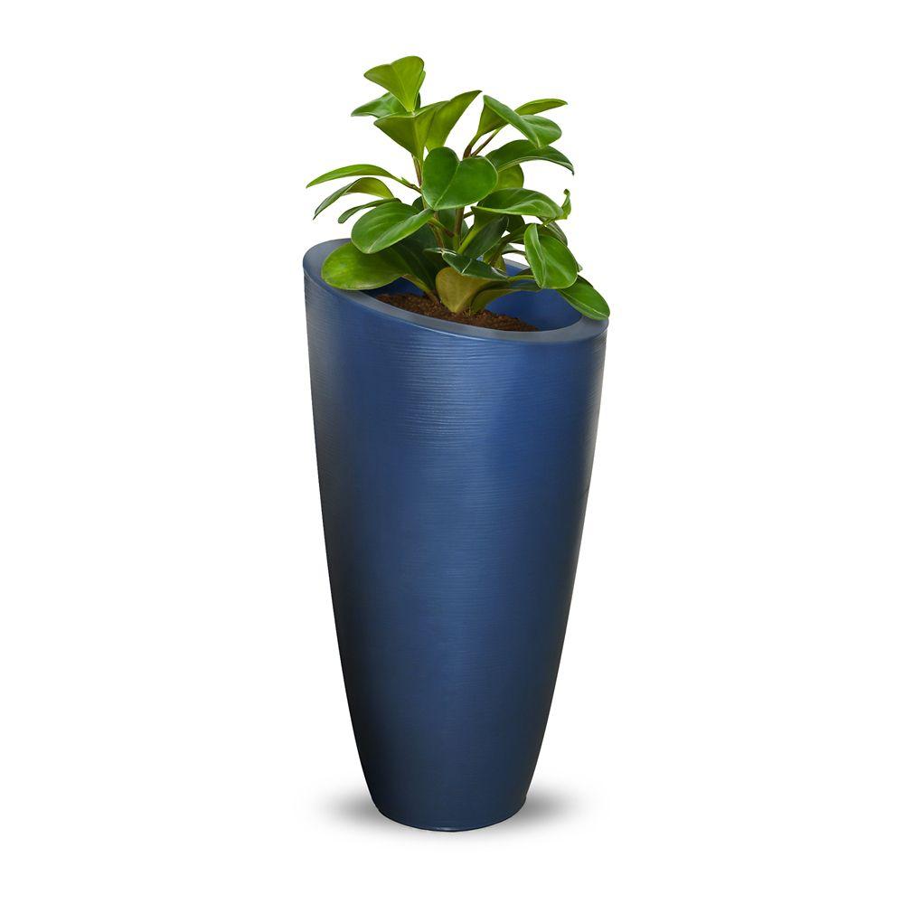 Mayne Modesto 32 inch Tall Planter- Neptune Blue