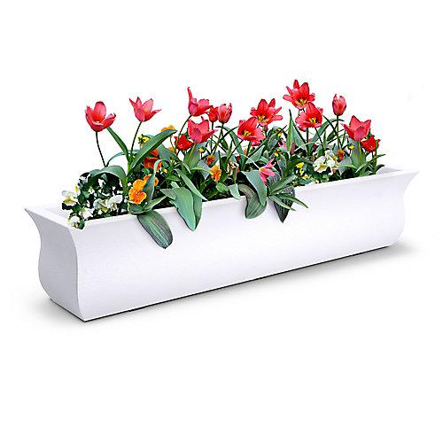 Bac à fleurs Valencia121cm - Blanc