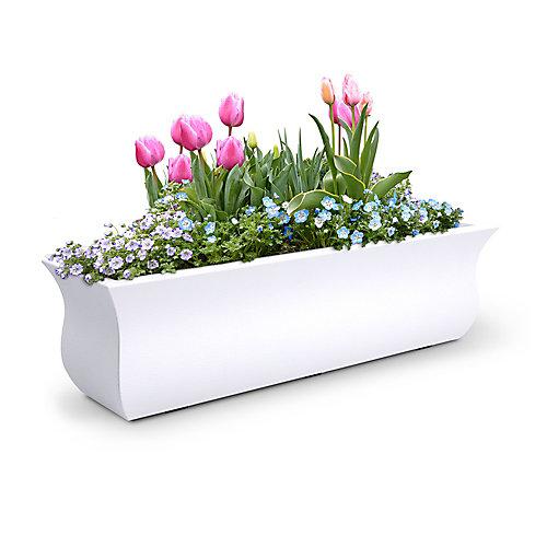 Bac à fleurs Valencia91cm - Blanc