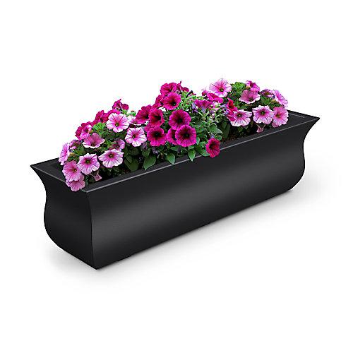 Bac à fleurs Valencia91cm - Noir