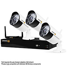 Wireless HD 1080p 4 Channel 1TB DVR Security System with 3 Bullet Cameras