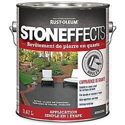Stoneffects Revêtement de pierre en quartz ardoise 3,47L
