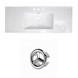 American Imaginations 48- inch W 3H8- inch Ceramic Top Set In White Colour