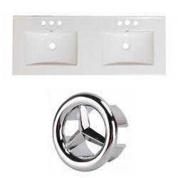 American Imaginations 48- inch W 3H4- inch Ceramic Top Set In White colour
