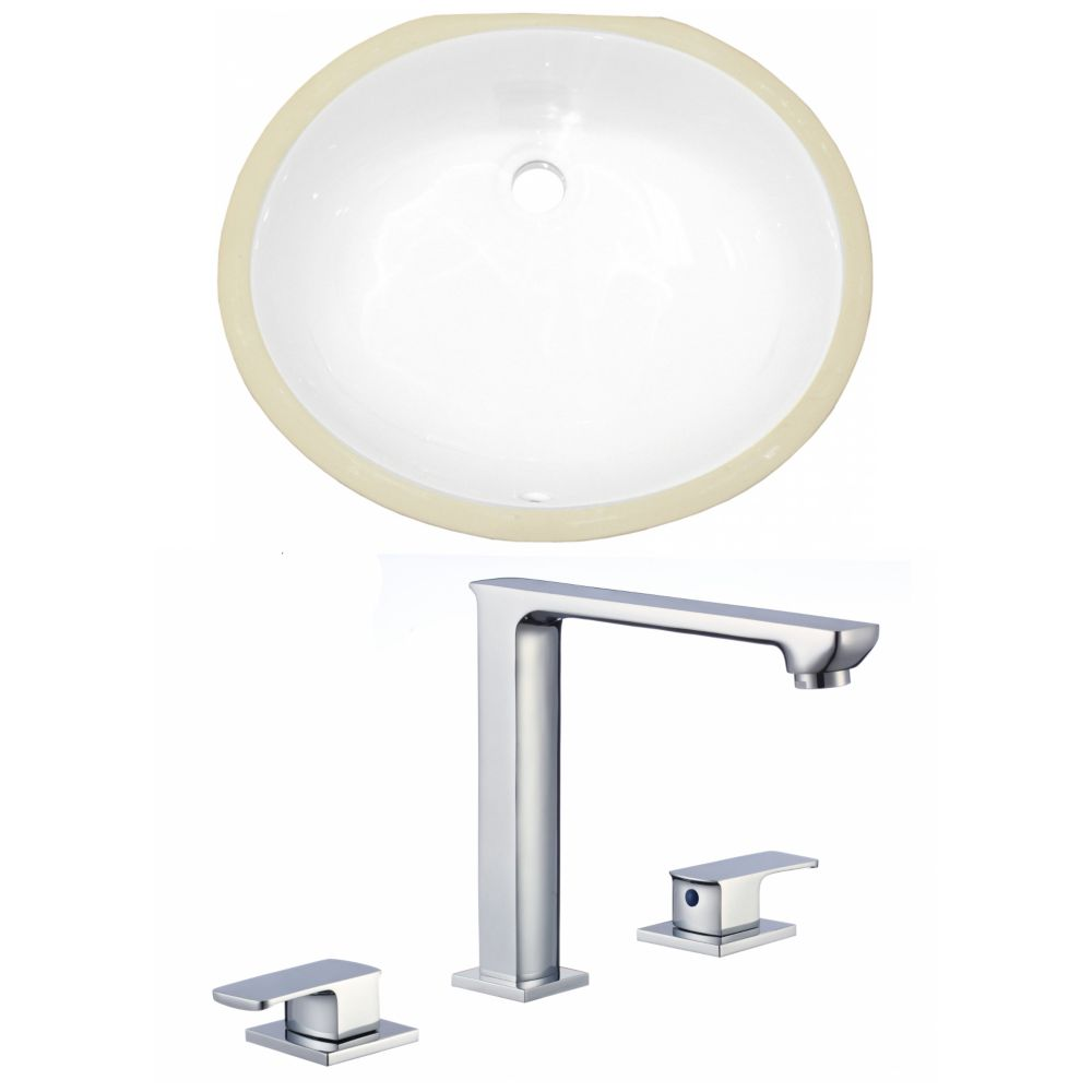 American Imaginations 19.5-inch W Undermount Sink Set - AI-22694
