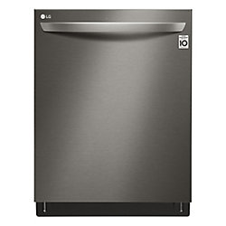 24-inch Top-Control Dishwasher with 3rd Rack and QuadWash in Black Stainless Steel - ENERGY STAR®
