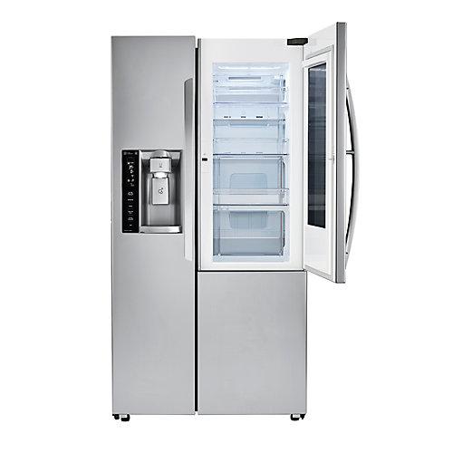 36-inch W 22 cu. ft. 3-Door French Door Refrigerator with InstaView Door-in-Door in Stainless Steel