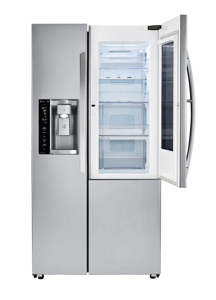 LG Electronics 22 cu. ft. 3-Door French Door Refrigerator with InstaView Door-in-Door in Stainless Steel