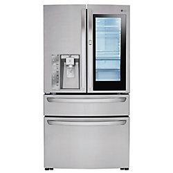 LG Electronics 36-inch W 23 cu. ft. French 4-Door Smart Refrigerator with InstaView Door-in-Door in Stainless Steel