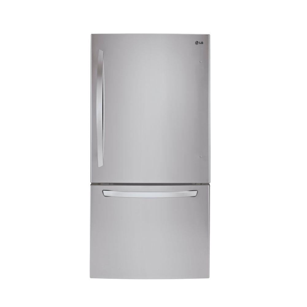 LG Electronics 24 cu.ft. Bottom Freezer Refrigerator in Stainless Steel
