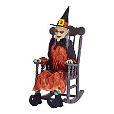 Animated Witch in Rocking Chair