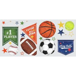 RoomMates Sports Ball Peel and Stick Wall Decals