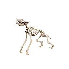 LED-Lit Animated Skeleton Werewolf Halloween Decoration