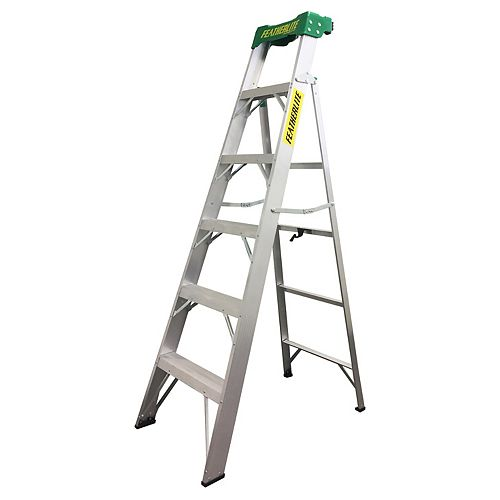 Featherlite Aluminum CrossXStep Ladder (225 lbs. Capacity)