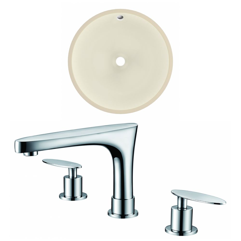 American Imaginations 15.5-in W Undermount Sink Set