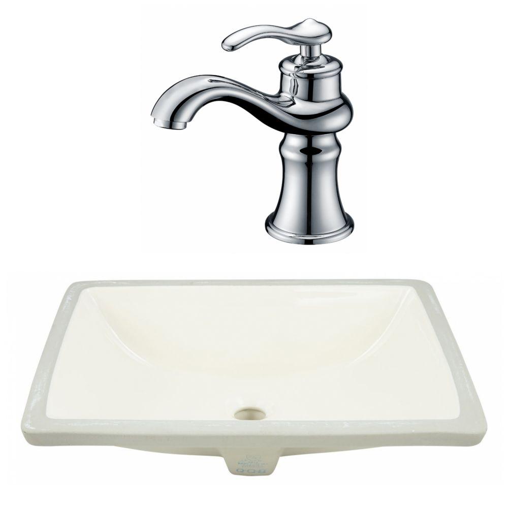 American Imaginations 20.75-in W Undermount Sink Set