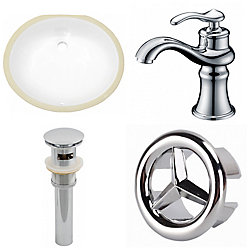American Imaginations 19.5-in W Undermount Sink Set