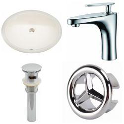 American Imaginations 19.75-in W Undermount Sink Set