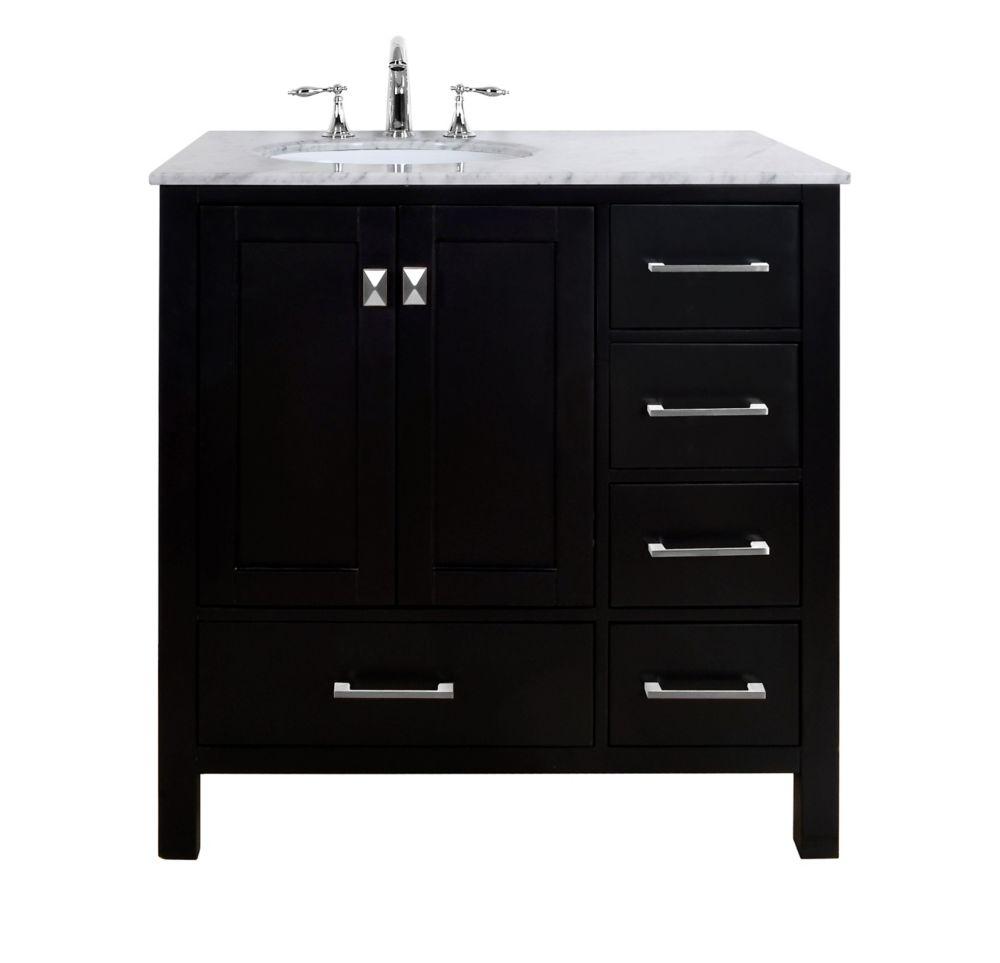 Stufurhome 36 inch Malibu Espresso Single Sink Bathroom ...