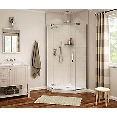 Davana 40-inch x 40-inch x 78-inch Neo-Angled Frameless Shower Stall in Dark Bronze