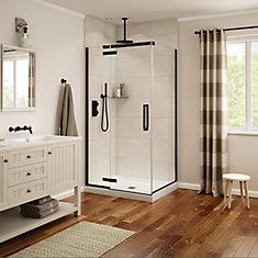 Davana 34-inch x 42-inch x 78-inch Corner Frameless Shower Stall in Dark Bronze