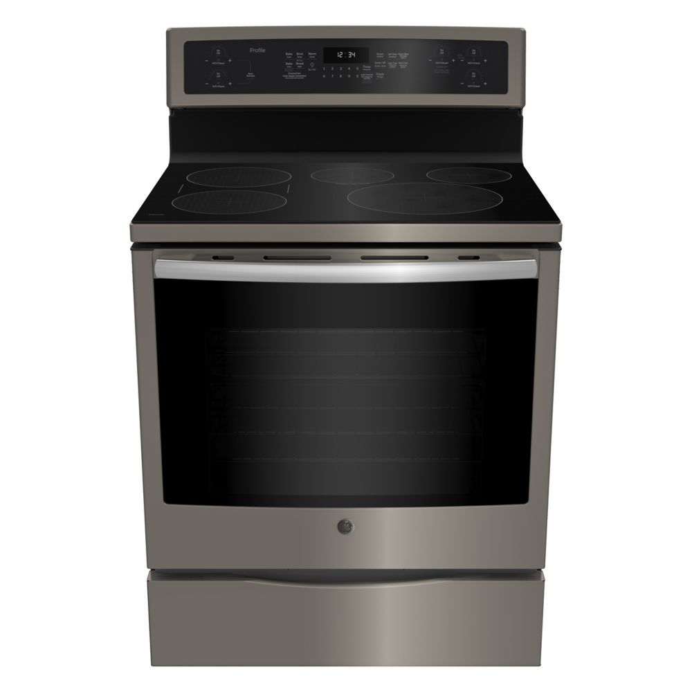 GE 30-inch 6.2 cu. ft. Free Standing Electric Range with Self-Cleaning Convection Oven in Slate