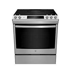 GE Slide In Front Control Electric 5.3 cu ft Self-Cleaning Ran - Stainless Steel