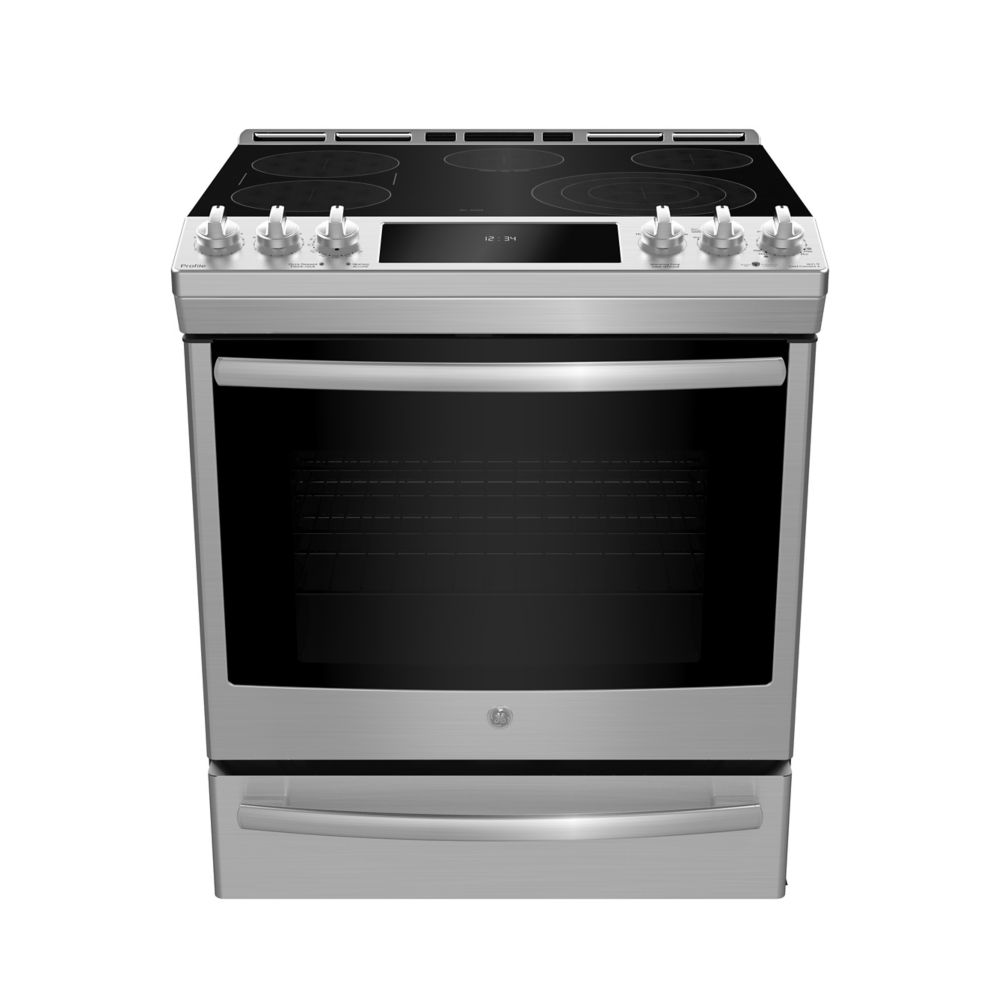 GE 30-inch 5.3 cu.ft. Single Oven Electric Range with Self-Cleaning Convection Oven in Stainless Steel
