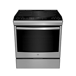 GE 30-inch 5.3 cu. Ft. Slid-in Induction Selfcleaning Range in Stainless Steel