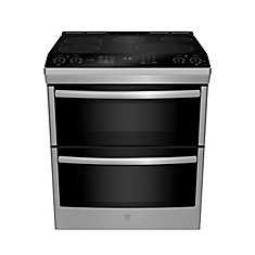 Slide In Front Control 6.7 cu ft Double Oven Self-Cleaning Ran - Stainless Steel