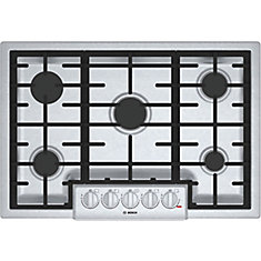 Série 800  Table de cuisson au gaz de 30 po  5 brûleurs