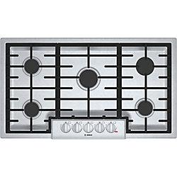 Série 800  Table de cuisson au gaz de 36 po  5 brûleurs